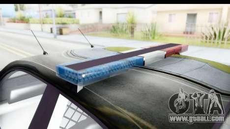 Vapid ULTOR Police Cruiser for GTA San Andreas inner view
