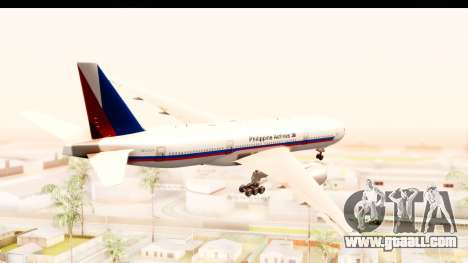 Boeing 777-200LR Philippine Airline Retro Livery for GTA San Andreas right view