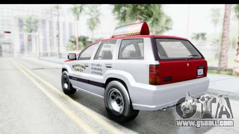 GTA 5 Canis Seminole Downtown Cab Co. Taxi for GTA San Andreas left view