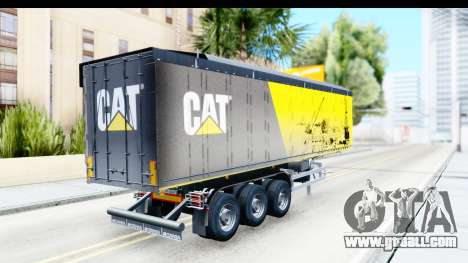Trailer Caterpillar for GTA San Andreas left view