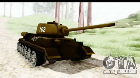T-34-85 Rudy 102 for GTA San Andreas right view