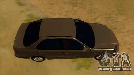 Honda Civic Sedan Stock for GTA San Andreas inner view