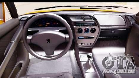 Peugeot 306 GTI for GTA San Andreas inner view
