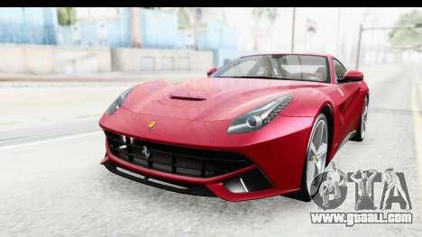 Ferrari F12 Berlinetta 2014 for GTA San Andreas back left view