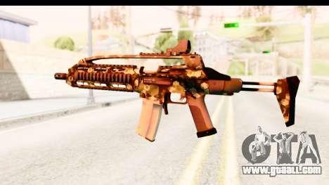 SCAR-LK Hex Camo Green for GTA San Andreas second screenshot