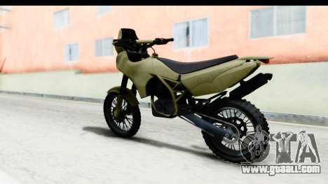 GTA 5 Nagasaki BF400 Stock IVF for GTA San Andreas left view
