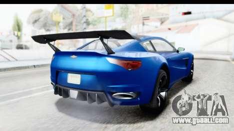 GTA 5 Dewbauchee Seven 70 for GTA San Andreas left view