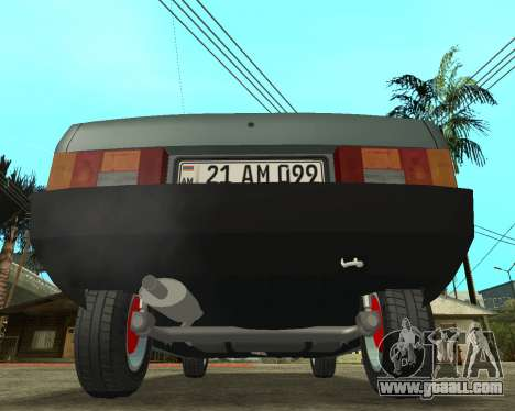 Vaz 21099 ARMNEIAN for GTA San Andreas back left view