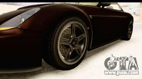 GTA 5 Dewbauchee Rapid GT SA Style for GTA San Andreas back view