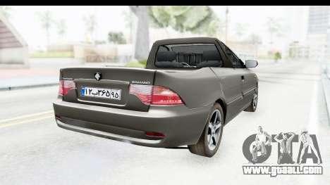 Ikco Samand Pickup v1 for GTA San Andreas back left view