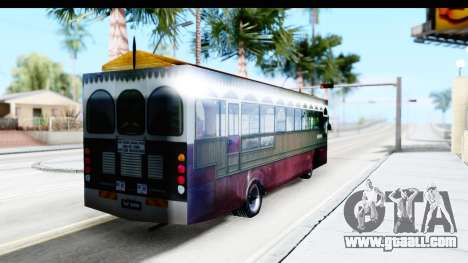Cas Ligas Terengganu City Bus Updated for GTA San Andreas back left view