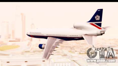 Lockheed L-1011-100 TriStar British Airways for GTA San Andreas left view