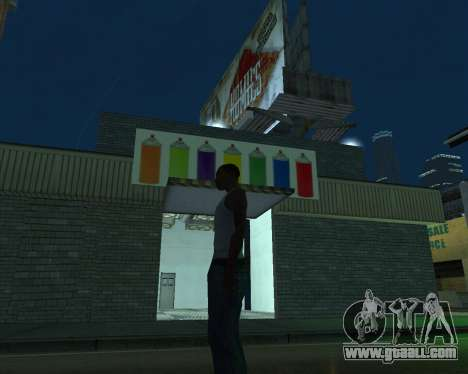 Paint the garage for GTA San Andreas third screenshot