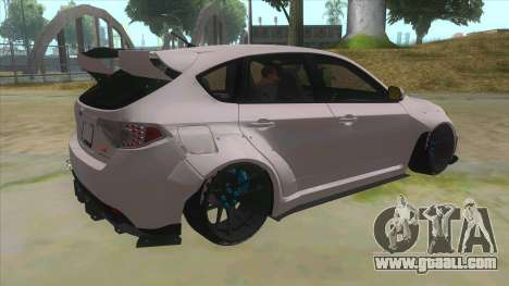 2008 Subaru WRX Widebody L3D for GTA San Andreas right view
