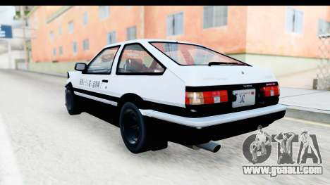 NFS 2015 Toyota AE86 for GTA San Andreas right view