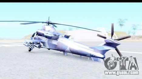 Denel AH-2 Rooivalk Blue for GTA San Andreas back left view