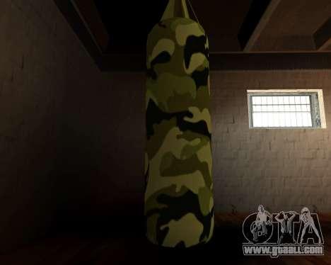 New military punching bag for GTA San Andreas third screenshot