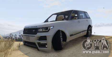 GTA 5 Land Rover Range Rover Startech left side view