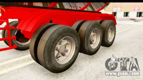 Trailer Fuel for GTA San Andreas back view
