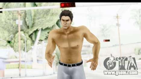 Yakuza 5 Kazuma Kiryu Topless Tatoo for GTA San Andreas