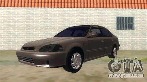 Honda Civic Sedan Stock for GTA San Andreas