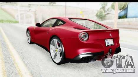 Ferrari F12 Berlinetta 2014 for GTA San Andreas left view