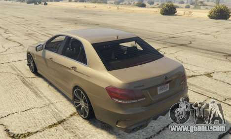 GTA 5 Mercedes-Benz E63 Brabus 850HP left side view