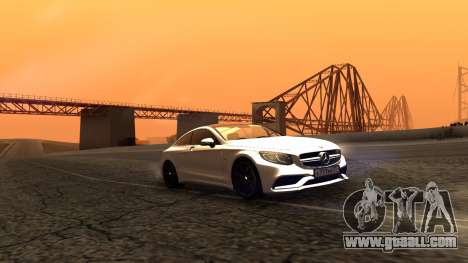 Mercedes-Benz S63 Coupe for GTA San Andreas back left view