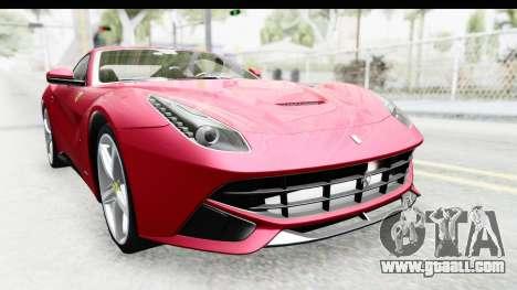 Ferrari F12 Berlinetta 2014 for GTA San Andreas inner view