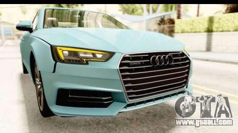 Audi A4 TFSI Quattro 2017 for GTA San Andreas upper view