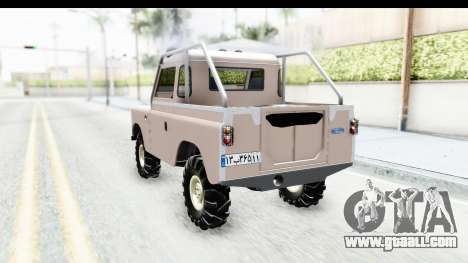 Land Rover Pickup Series3 for GTA San Andreas back left view