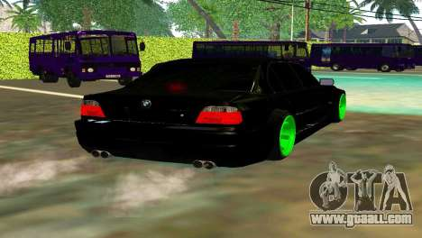 BMW 750 HAMANN for GTA San Andreas back left view