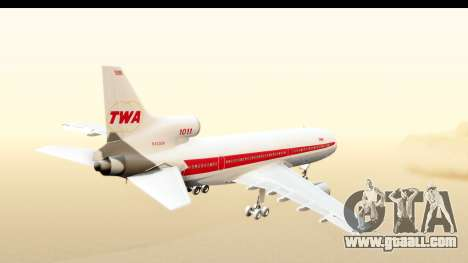 Lockheed L-1011-100 TriStar Trans World Airlines for GTA San Andreas right view