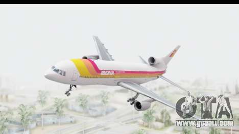 Lockheed L-1011-100 TriStar Iberia for GTA San Andreas back left view