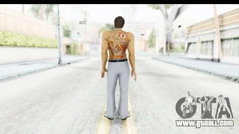 Yakuza 5 Kazuma Kiryu Topless Tatoo for GTA San Andreas third screenshot