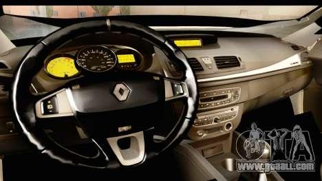 Renault Fluence v2 for GTA San Andreas inner view