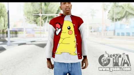 Jacket Pokemon Pokeball for GTA San Andreas