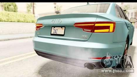 Audi A4 TFSI Quattro 2017 for GTA San Andreas interior
