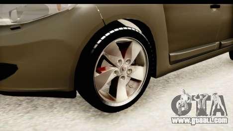 Renault Fluence v2 for GTA San Andreas back view