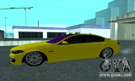 BMW 525 Gold for GTA San Andreas left view