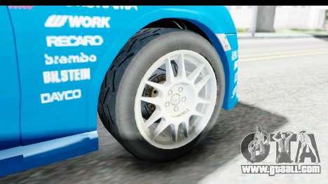 Subaru BRZ Rally for GTA San Andreas back view