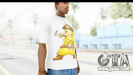 T-Shirt Pokemon Go Pikachu for GTA San Andreas