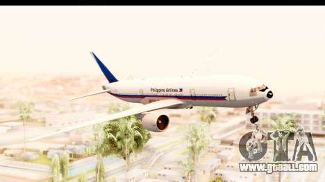 Boeing 777-200LR Philippine Airline Retro Livery for GTA San Andreas back left view