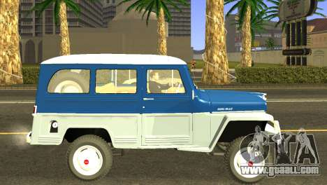 Jeep Station Wagon 1959 for GTA San Andreas back left view