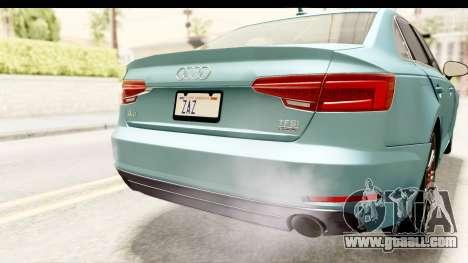 Audi A4 TFSI Quattro 2017 for GTA San Andreas bottom view