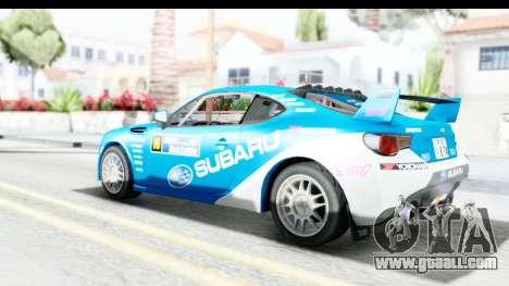 Subaru BRZ Rally for GTA San Andreas left view
