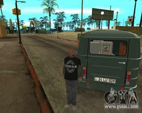 Eraz 762 Armenian for GTA San Andreas upper view