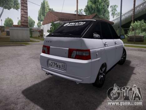 VAZ 2112 GVR quality for GTA San Andreas back view