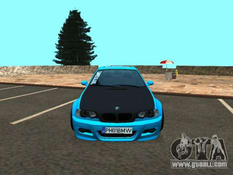 BMW M3 E46 Stance for GTA San Andreas back view