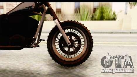 GTA 5 Western Cliffhanger Custom v1 for GTA San Andreas back view
